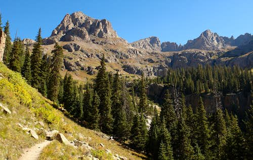 The upper Chicago Basin Trail