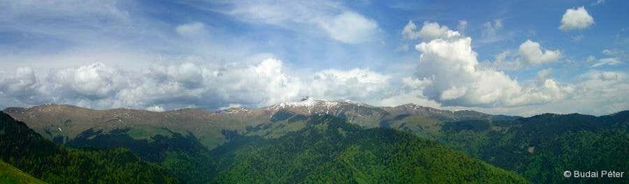 View from Muntele Saca