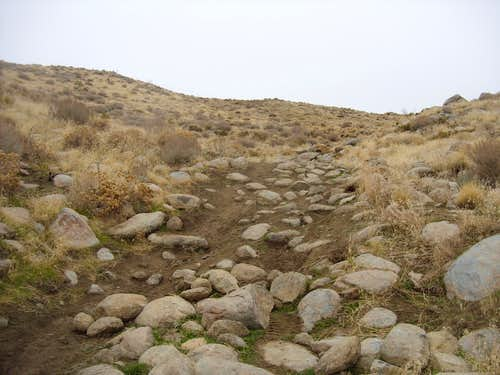 Heading up the final slope to the summit
