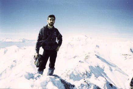 On Kalagh Lan peak in winter...