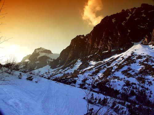 Ski Route in Starolesna Valley