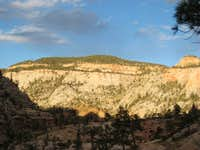 Sunset View along West Rim Trail