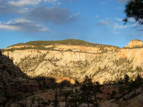 Sunset View along West Rim Trail