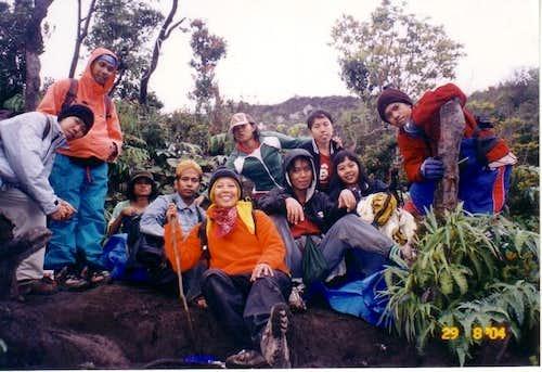 with Padang climbers at cadas