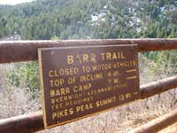 Barr Trail Sign
