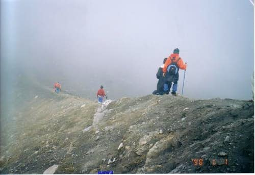 the trek to the summit
