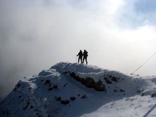 Leaving the summit...