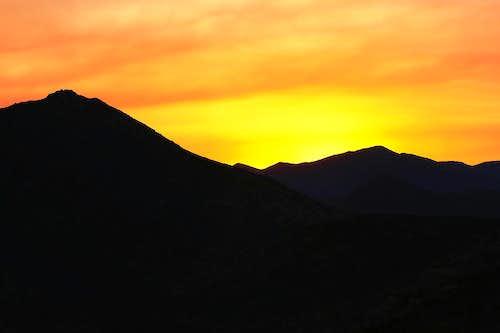 Firey Tecate Peak Sunset