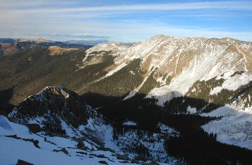 Vallecito Mountain, summit view NE