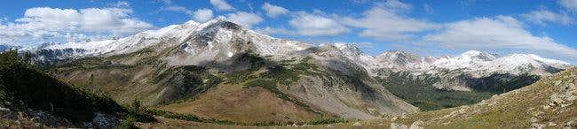 Panorama of Clark Peak ,...