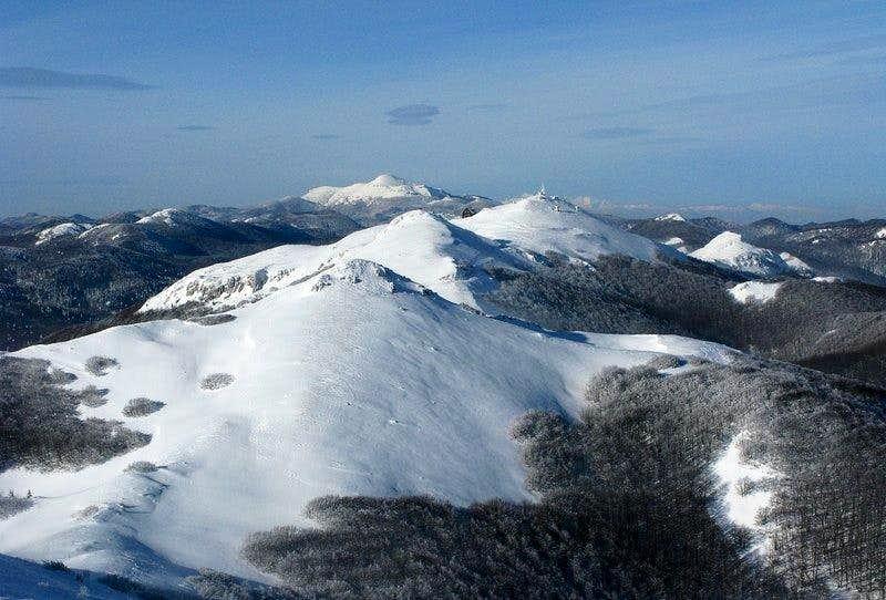 View from Snježnik hut
