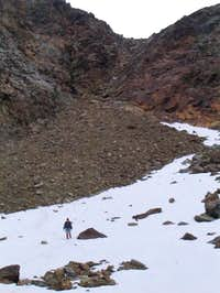 This photo shows the couloir...