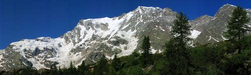 Panoramic view of Monte Rosa