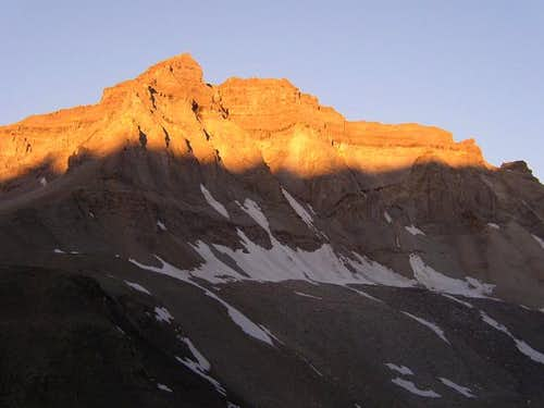 Alpenglow at the base of...