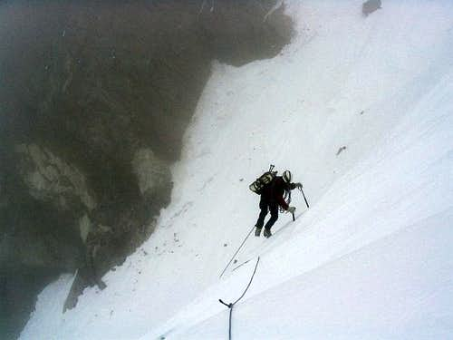 Below the Silbersattel - 4500 m