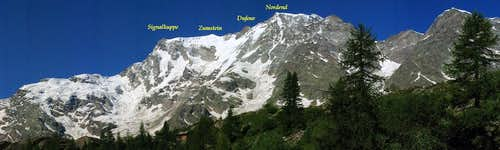 View of Monte Rosa East Face from Belvedere