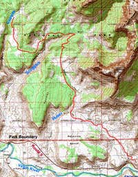 Map of Chinle Trail