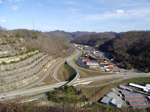 East-Northeast toward Pikeville