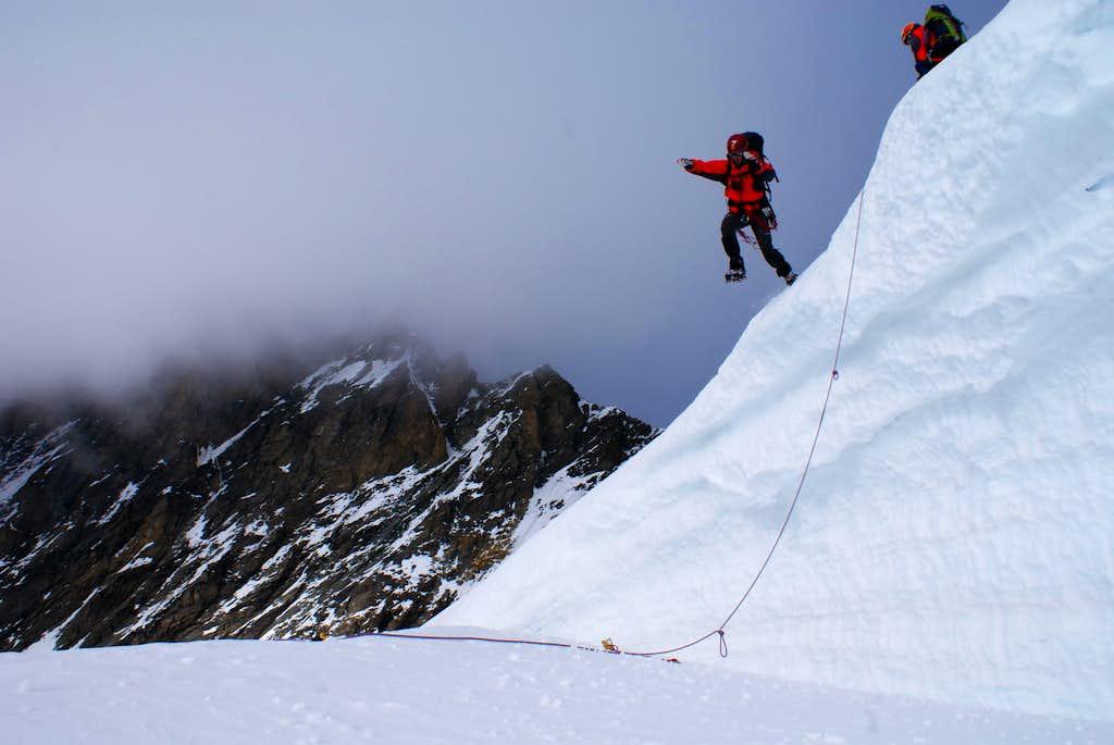 descending from Taschhorn
