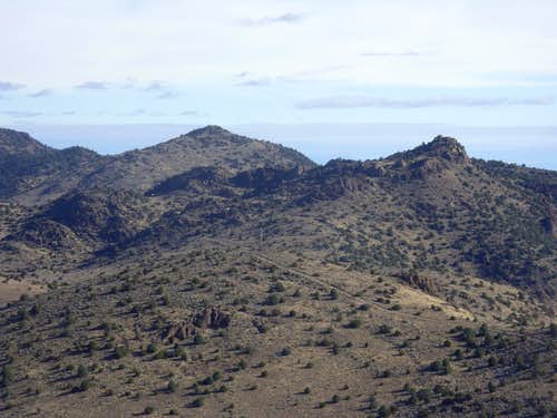 Zoom shot view to Rocky Peak and Horse BM