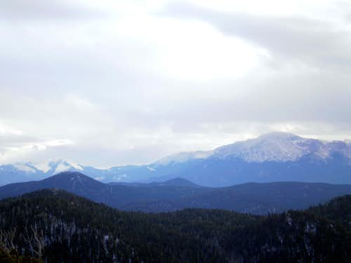 Almagre Mountain and Pikes Peak