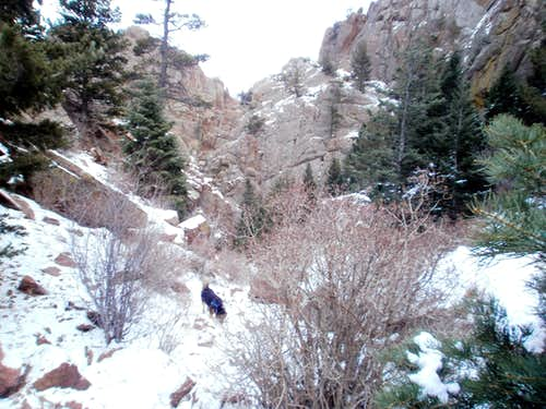 Ascending Stanley Canyon