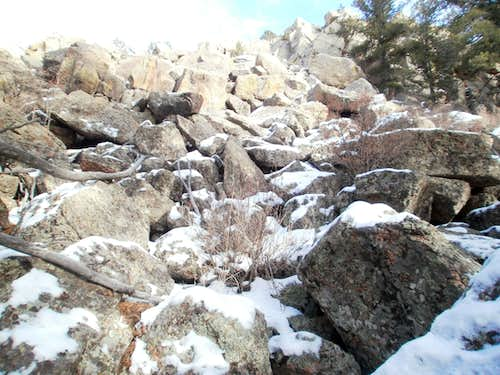 Rock and snow, western slopes