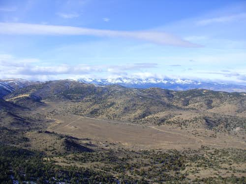 View of Long Valley from the summit of Peak 7036