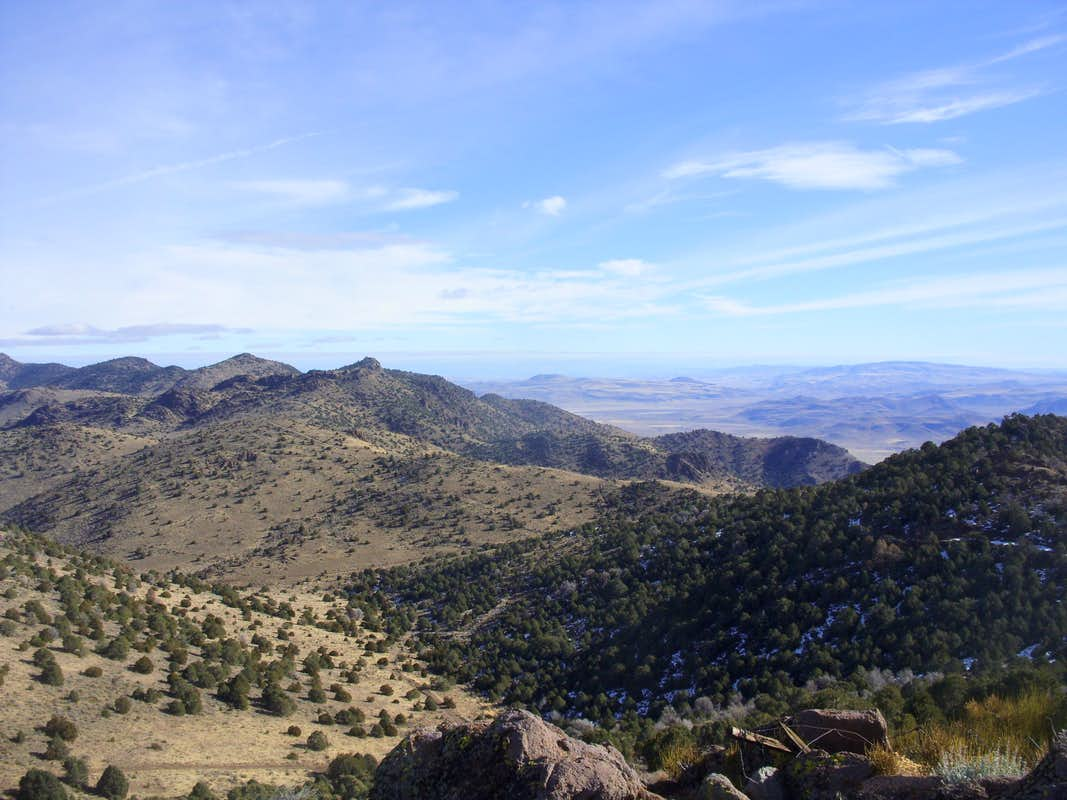 View of the Nevada desert beyond the Flowery Range