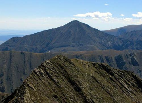 Horn Peak from the summit of...