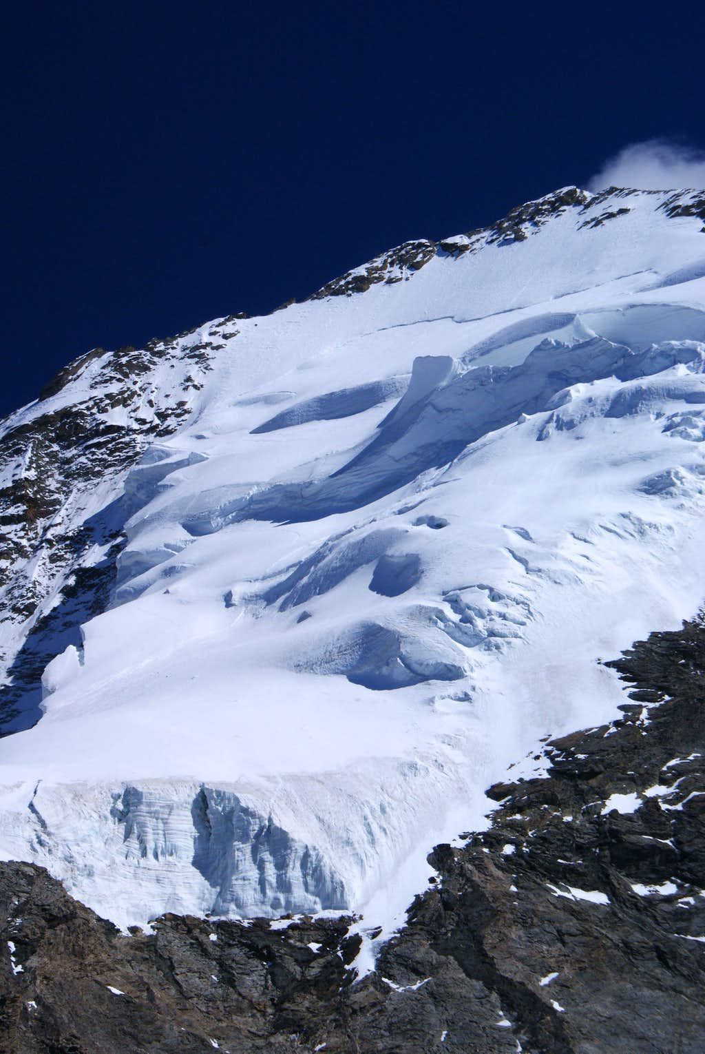 NW Face, where we made it yesterday.