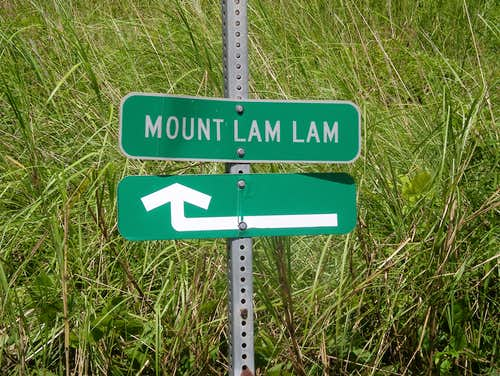Mt Lamlam sign