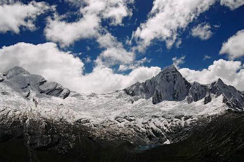 View of Taulliraju and...