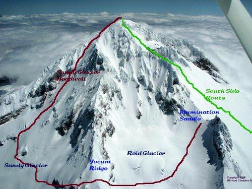 Mt Hood - annotated