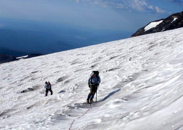 Ascending the Mazama Glacier