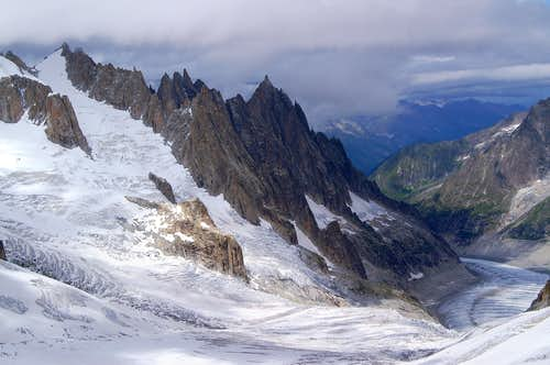 Aiguilles de Chamonix from the south