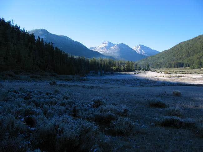 Ostler Peak (center) as seen...
