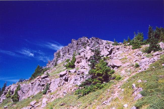 Chinidere summit from the...