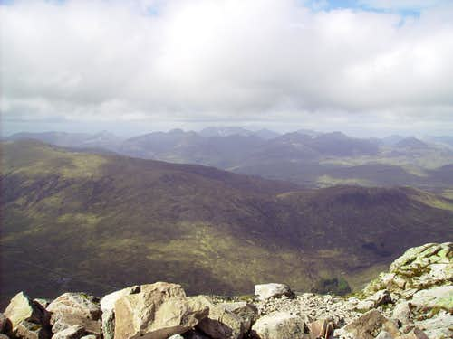 View from Stob Dearg