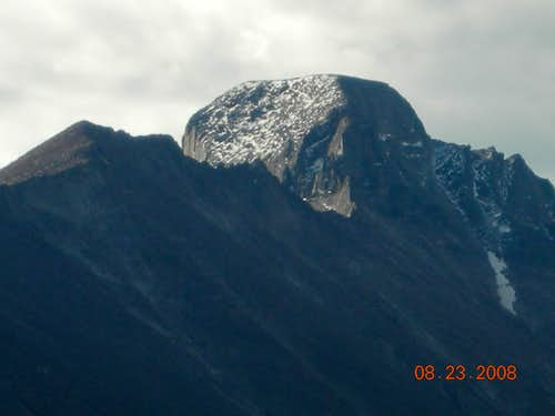 Close up of Longs Peak