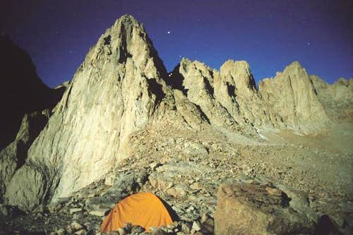 Mt Whitney under the moon...