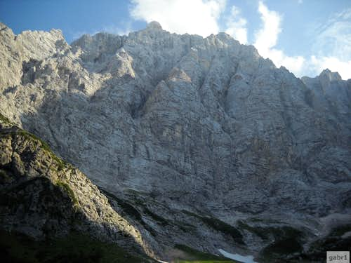 Triglav, the north face