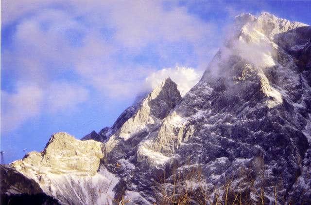 The summit of Zugspitze,...