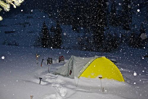 Snow camping