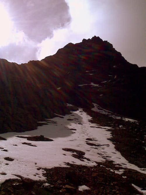 Sincholagua's snow and scree.