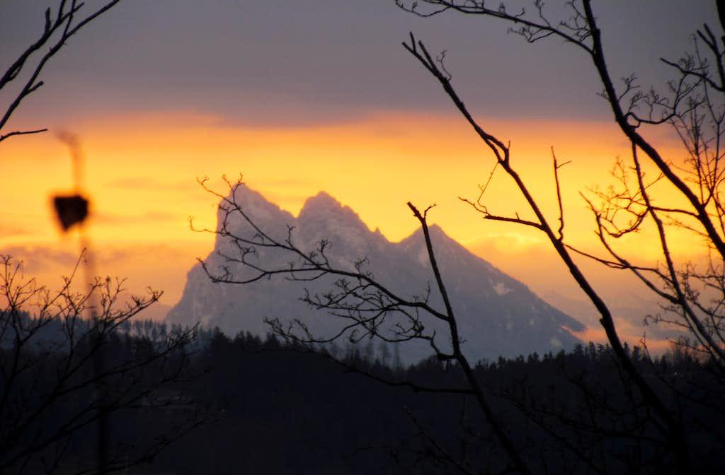 Sunrise Behind Baring