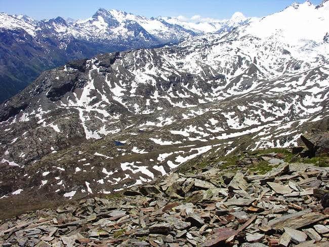Views of the Grande Rousse Range
