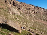 Barr Trail at around 13,000'