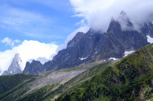 Northern Aiguilles de Chamonix from the WSW