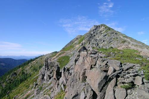 A view of the summit ridge...